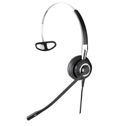 Jabra BIZ 2400 NC 3-in-1 Corded Mono Headset, 2486-820-209 | For Desktop  Phones - Cisco, Avaya, Mitel, Polycom and other Business Phones | Requires