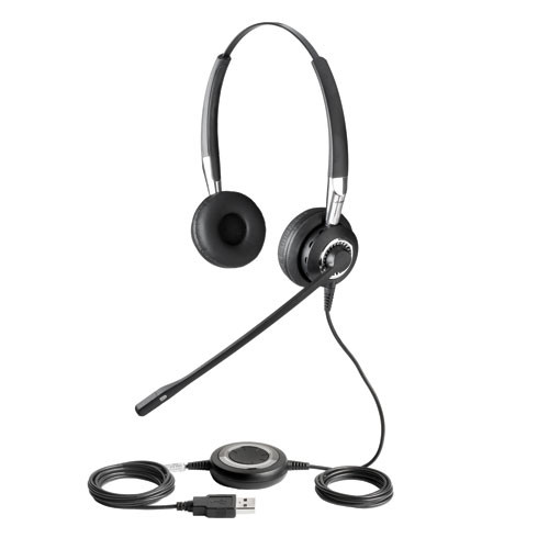 Jabra BIZ 2400 Stereo USB and Bluetooth headset | Cisco, Skype, Office  Communicator and softphones | with noise-canceling mic, #2499-823-105