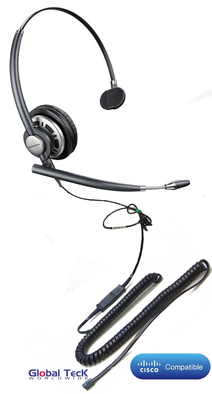 Cisco compatible Plantronics Encore PRO Mono Wideband Headset, HW291N  (HW710) | Direct Connect for Cisco: 7940, 7941G, 7942G, 7945G, 7960, 7961,