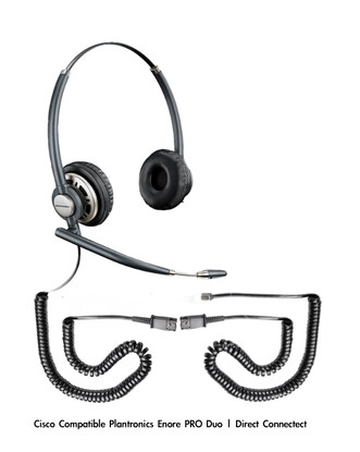 Plantronics Encore PRO Duo Wideband Headset, HW301N | Direct Connect