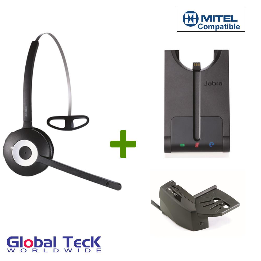 987ff58469d Mitel compatible Jabra PRO 920 Bundle Wireless Headset, 920-65-508-105-B |  For Mitel IP phones: 5000, 5010, 5020, 5040, 5055, 5140, 5201, 5205, 5207,  5210, ...