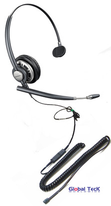 Nec Compatible Plantronics Encore Pro Mono Wideband Headset Hw291n Hw710 Direct Connect For Nec Phones Dt310 Dt730 Dterm 80 And Others With Rj 9 Headset Jack