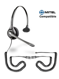 Mitel Compatible Direct Connect headset HW251N | Plugs into Mitel Headset Jack