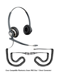 Plantronics Encore PRO Duo Wideband Headset, HW301N | Toshiba Compatible Direct Connect