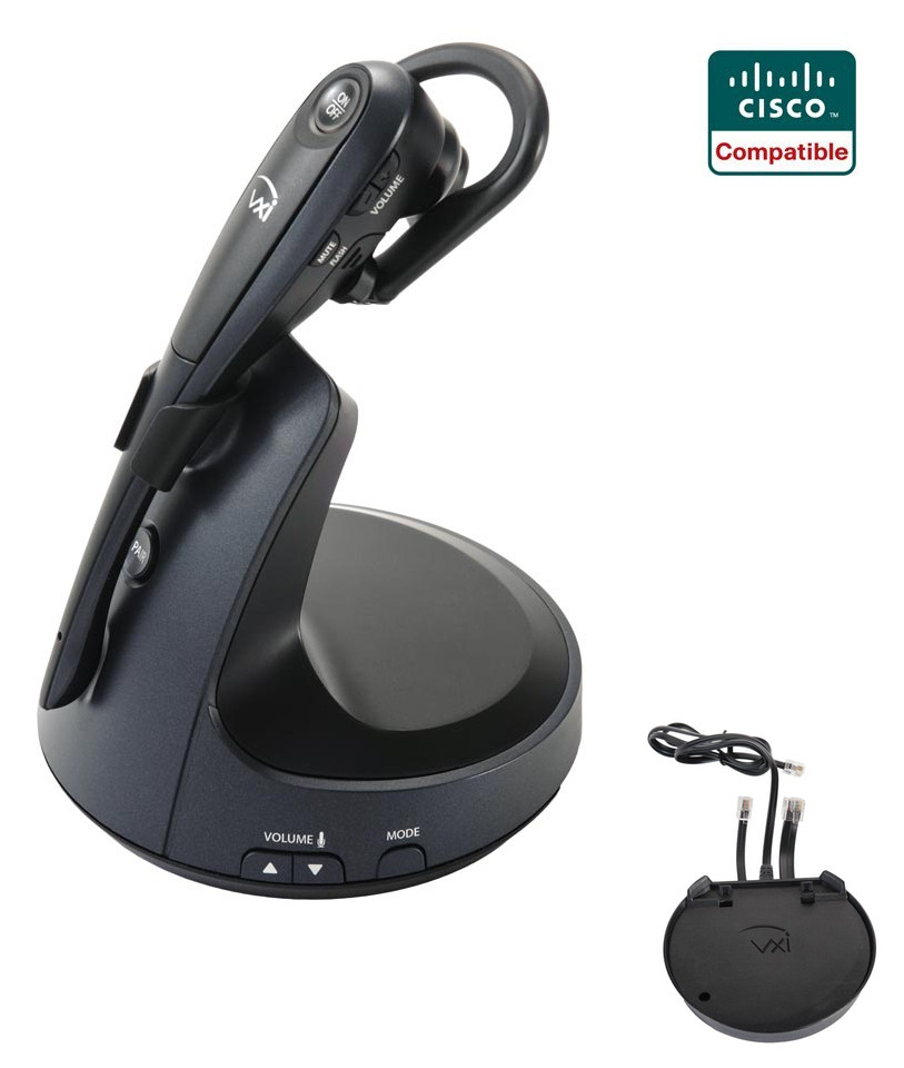 Cisco Compatible VXi V150 Wireless Headset Bundle, vxi-203382 | Electronic  Remote Answerer Included | For Cisco IP : 7821, 7841, 7861, 7942g, 7945g,