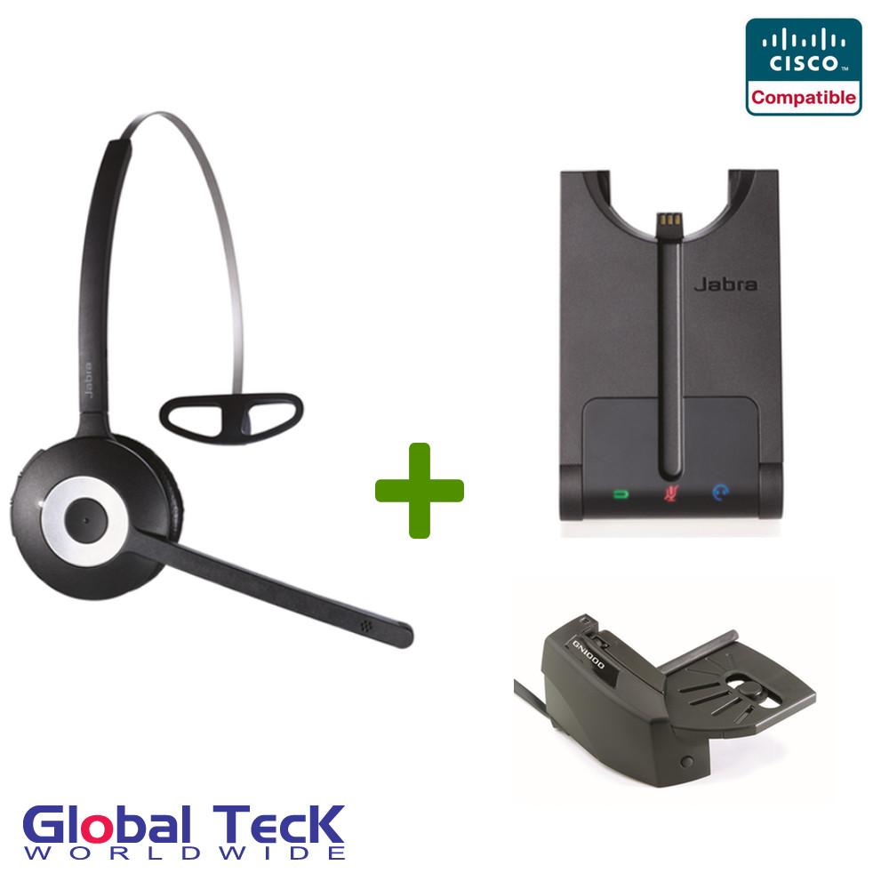 Cisco compatible Jabra PRO 920 Wireless Headset Bundle, 920-65-508-105-B|  For Cisco phones: 7932g, 7931, 7942g, 7945g, 7960g, 7965g, 7971g, 7975g,