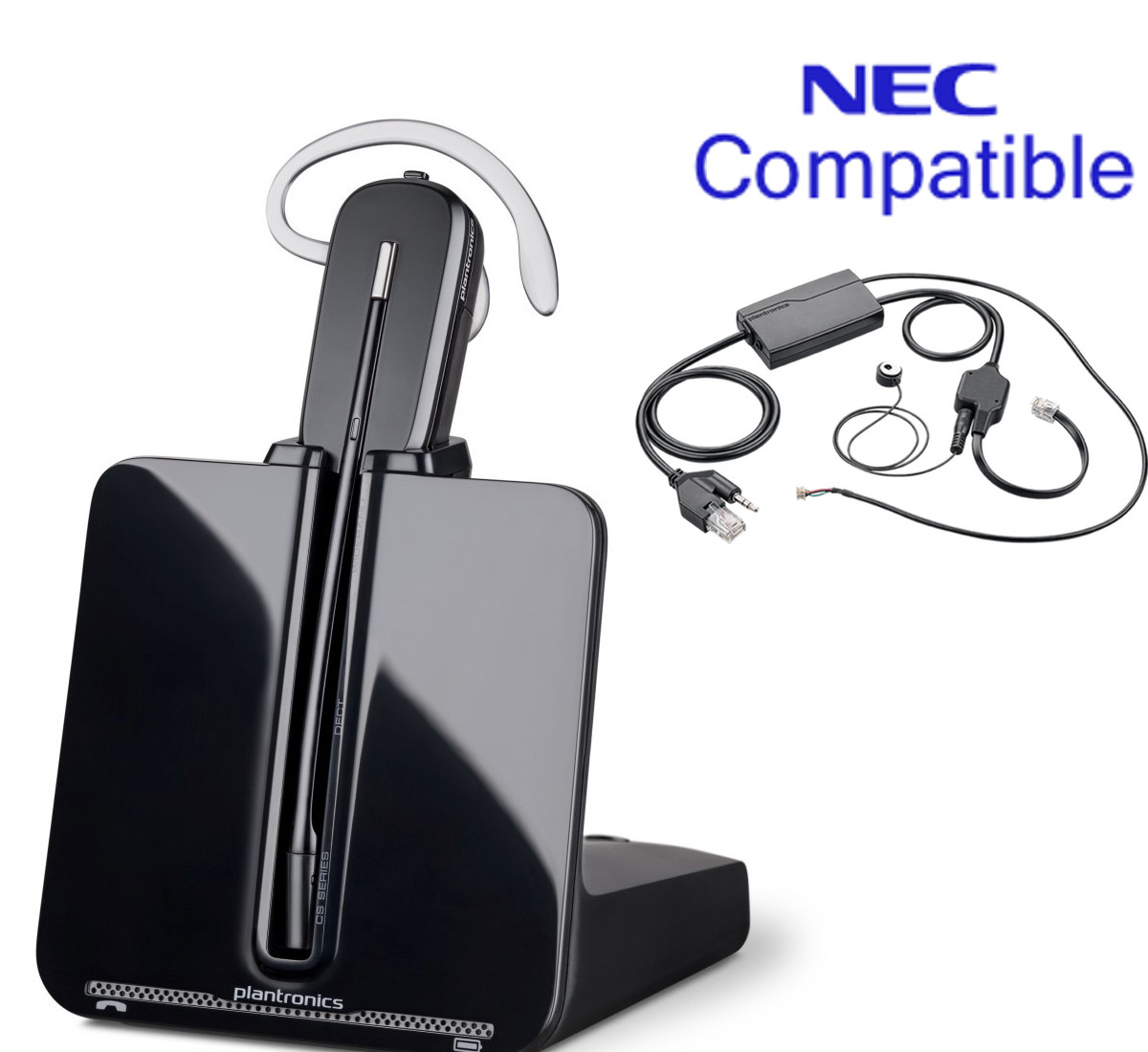 nec compatible plantronics cordless headset bundle cs540 ehs with rh headsetstore global teck com Phone Headset Schematic Headset Connector Wiring