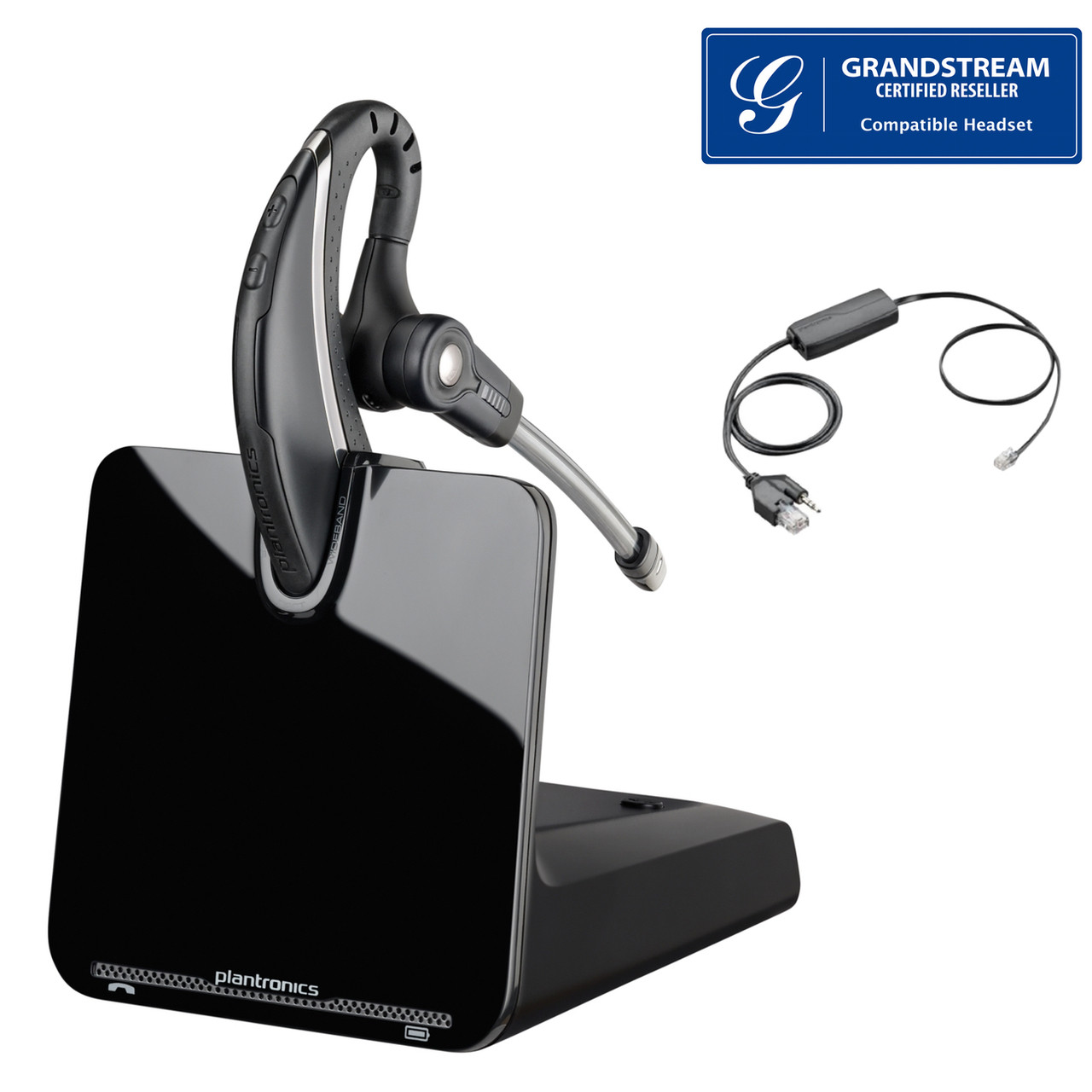 b4cb8d41099d68 Grandstream compatible Plantronics CS530 EHS Bundle | Includes Electronic  Remote Answerer | Grandstream Phones: GXP2130