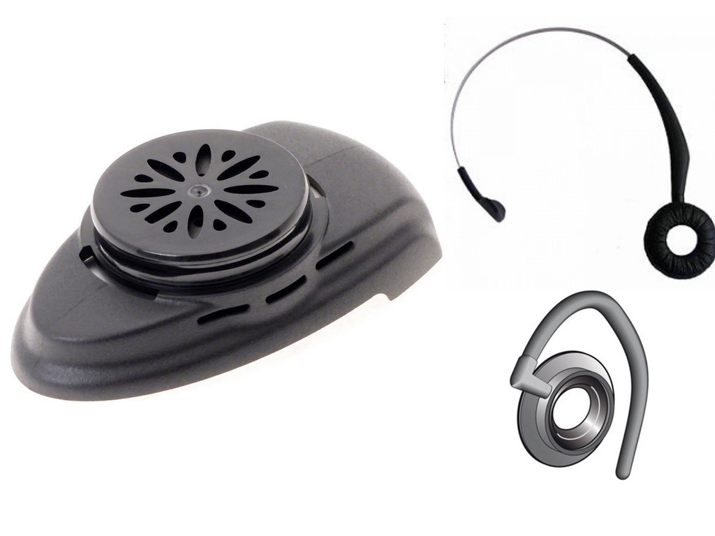 Mitel Refresher Kit for Cordless (DECT) Headset | Battery, Earhook and  Headband | For Jabra 9300, 9330e, 9350e and Mitel Phones: 5330, 5340, 5360