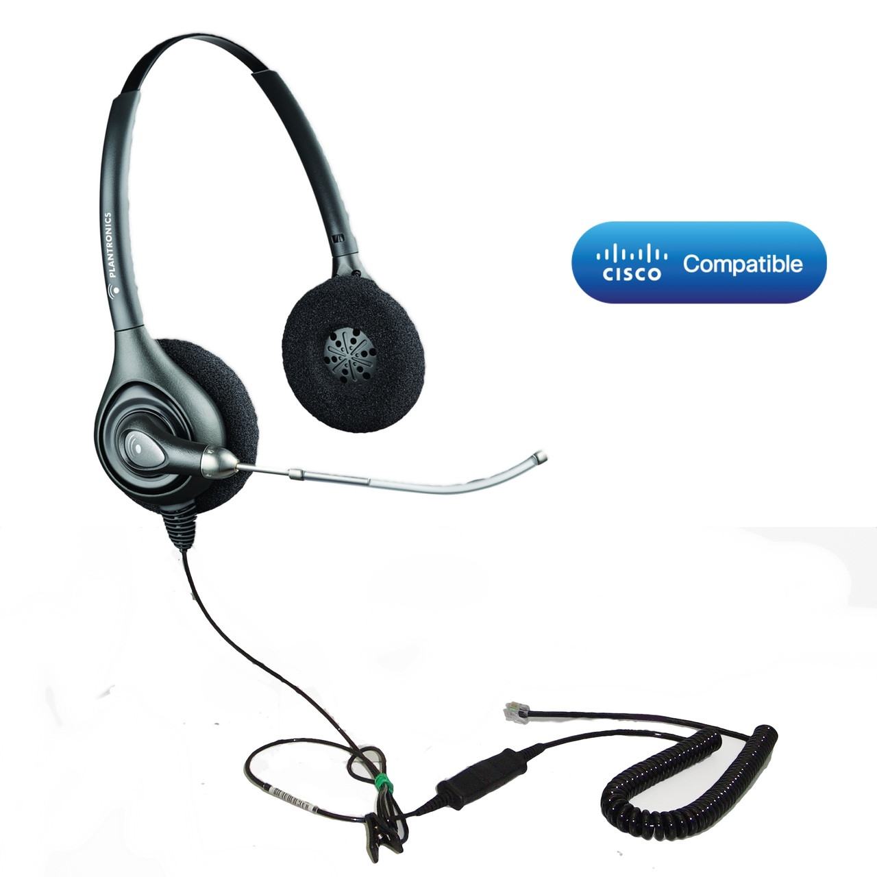 Cisco Certified Plantronics HW261 Voice-Tube Bundle | 64337-31-CIS | For  Cisco IP Phones: 6921, 6941, 6945, 6961, 7821, 7841, 7861, 7932g, 7931,