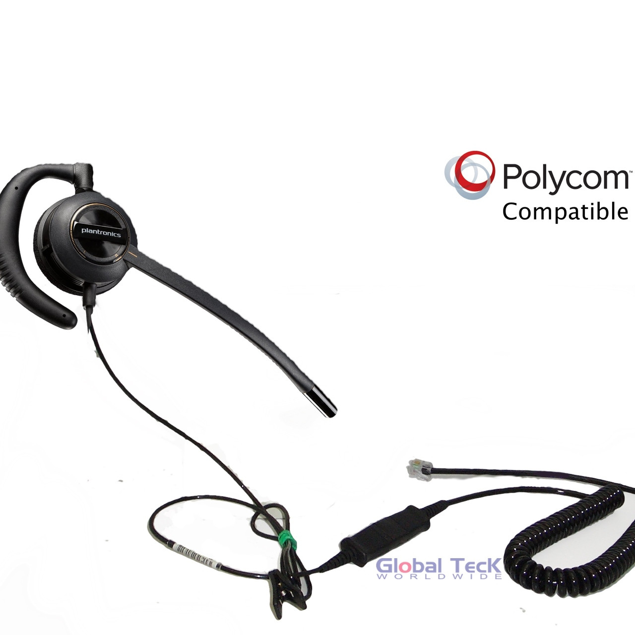 0a1bea91788eb5 Polycom Compatible Plantronics ENCOREPRO 530 (HW530) Direct Connect Headset  | SoundPoint       Phones: IP450, IP501, IP550, IP560, IP601, IP650, ...