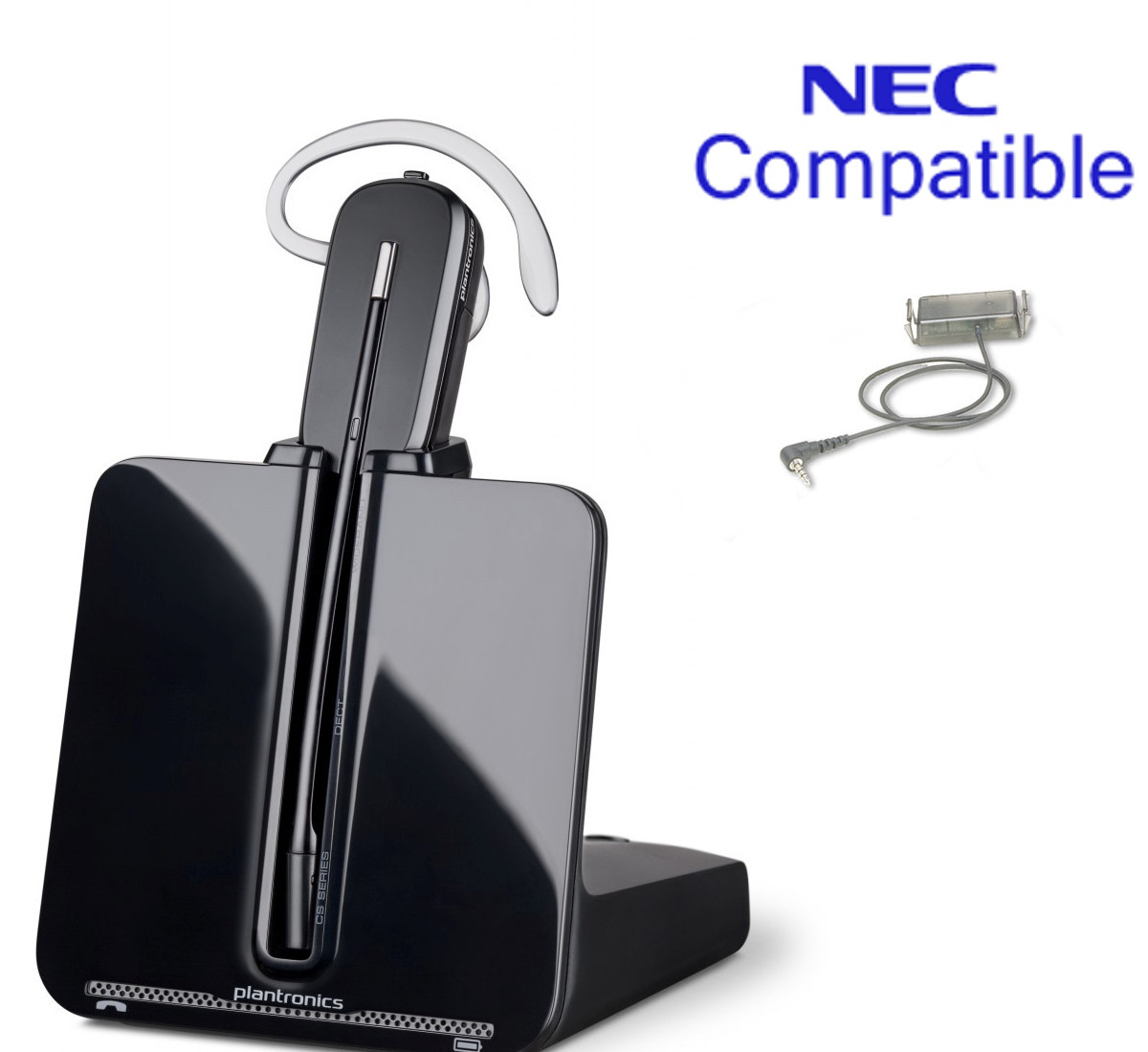3581644e2a0 NEC Compatible Plantronics Cordless Headset Bundle | CS540 with Electronic  Remote Answerer | NEC SL1100 and DSX 34B phones only (DSX 34B): 1090021,  1090026, ...