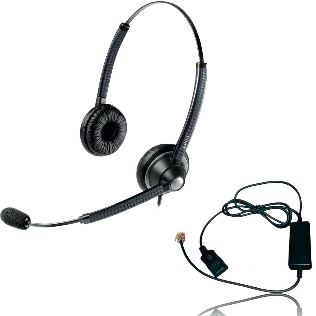 Jabra 1925 Headset | w/Telephone Cord RJ-9 | Cisco, Mitel, Polycom,  Norstar, Meridian, Aastra, Yealink, Allworkx, Nortel, NEC