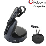 Polycom Compatible VXI VoIP Wireless Headset Bundle with Electronic Remote Answerer (EHS) included | SoundPoint Phones: IP 335, IP 430, IP 450, IP 550, IP 560, IP 650, IP 670, VVX 101, VVX 201, VVX300, VVX310, VVX400, VVX410, VVX500, VVX600, VV