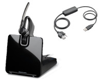 Plantronics Legend CS Bluetooth Headset Bundle | Avaya USB Phones: 1120e, 1140e, 1150e, 1165e, Polycom Compatible USB Phones: VVX250, VVX350, VVX450 | Multi-Use Headset for Deskphone and Bluetooth Mobile Phone | 88863-01-A72