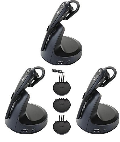 polycom compatible vxi voip wireless headset bundle with electronic rh headsetstore global teck com