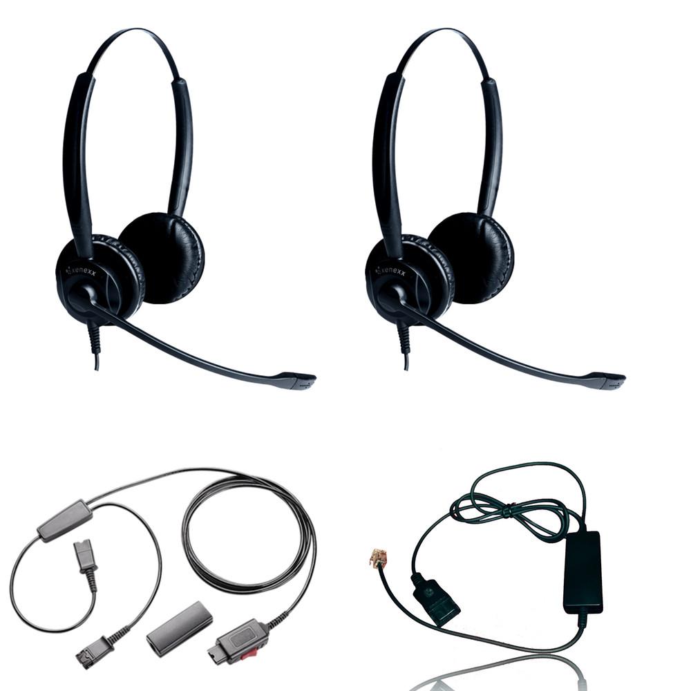 Xs 825 Duo Headset Training Bundle Headsets Telephone