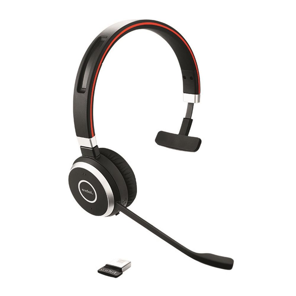 Jabra Evolve 65 Uc Mono Wireless Headset With Jabra Link: Jabra Evolve 65 UC Mono Bluetooth Headset USB Bundle