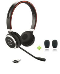 Jabra Evolve 65 UC Stereo Bluetooth Headset USB Bundle