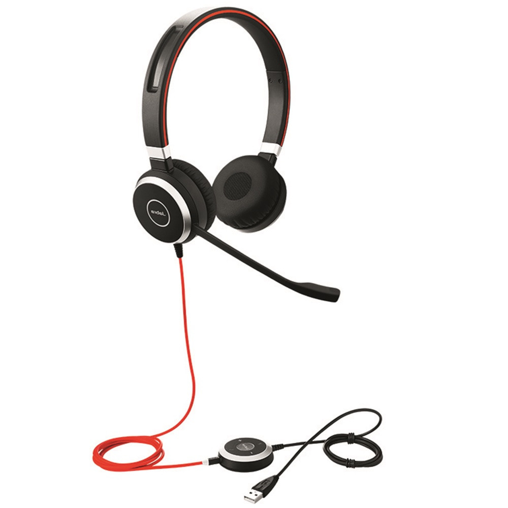 d78e058f272 Jabra Evolve 40 UC Stereo USB Headset w/ Integrated Busy Indicator ...