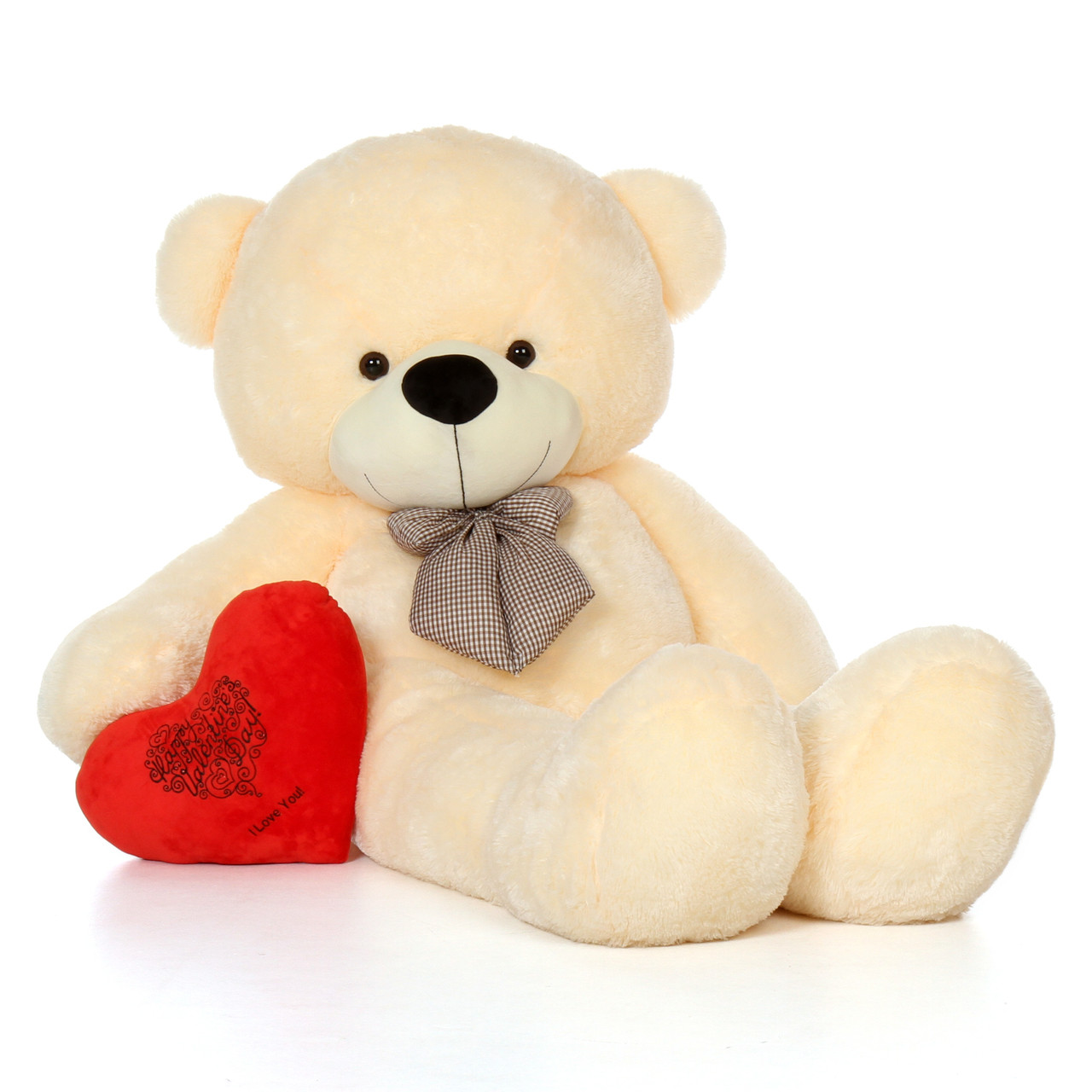 72in Life Size Teddy Bear With Happy Valentines Day I
