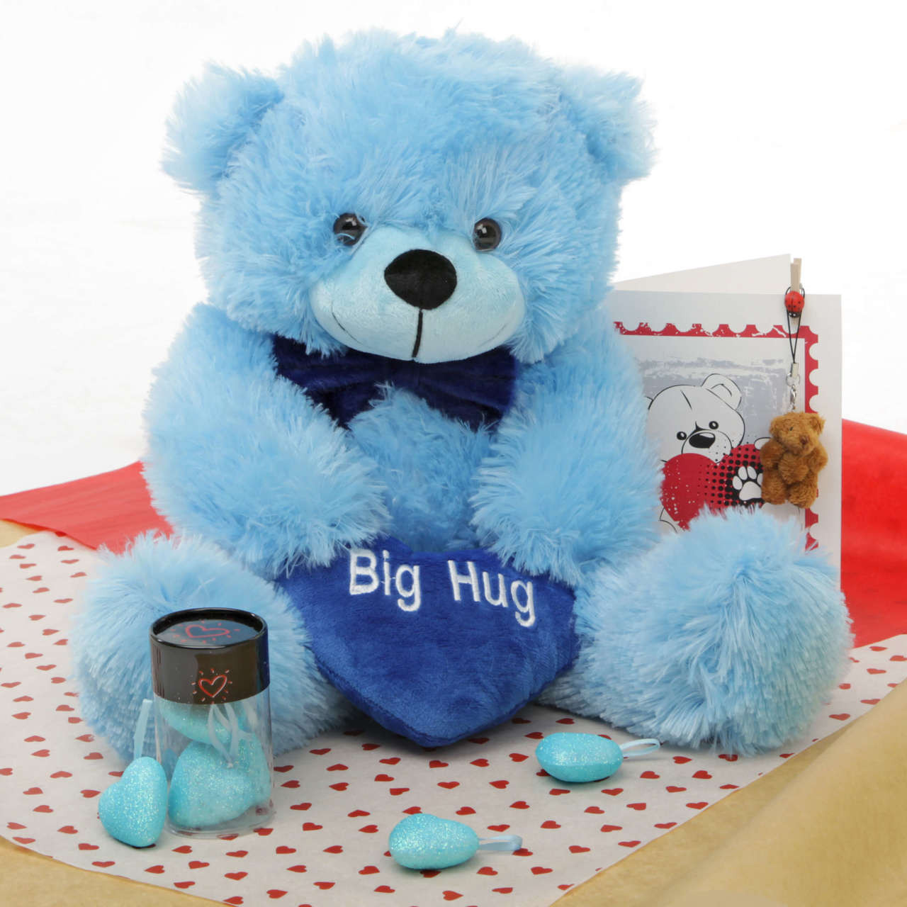 He Loves Me Bear Hug Care Package Featuring Happy Cuddles