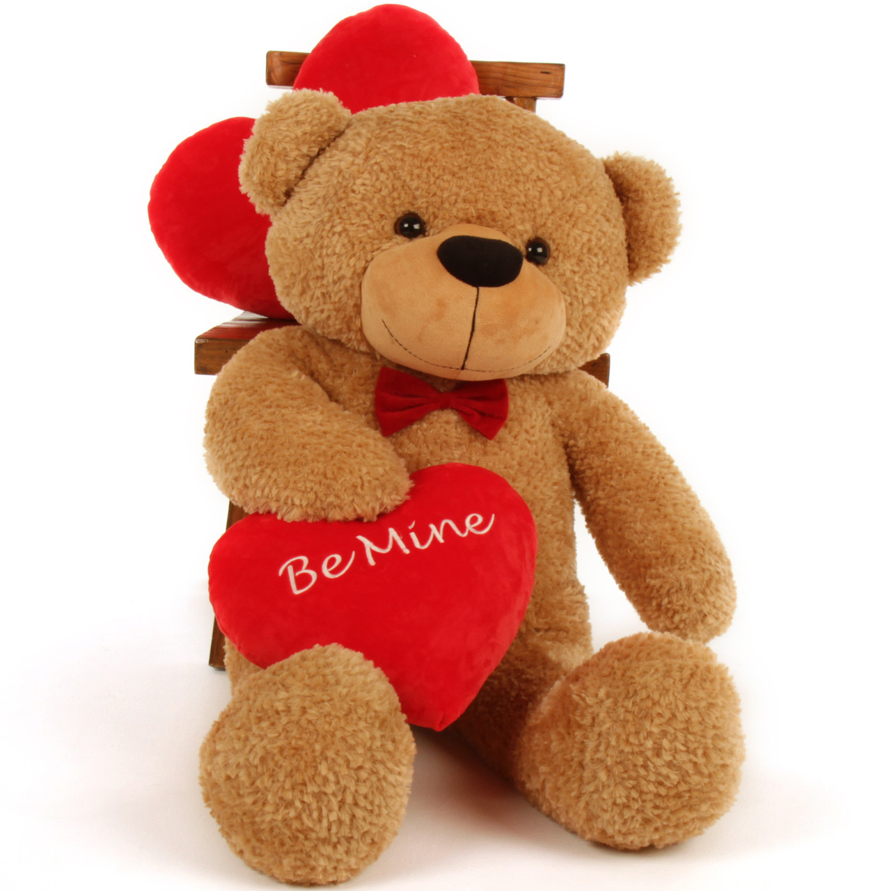 Giant Teddy 38in Valentine S Day Be Mine Red Heart Amber