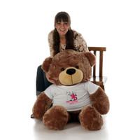 48in Mocha Sunny Cuddles Make a Wish Personalized Birthday Teddy Bear
