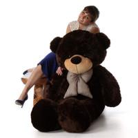 60in life size jumbo teddy bear Brownie Cuddles softest Adorable dark chocolate brown