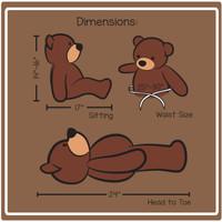2ft cuddles dimension