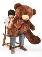 Lucky Hugs chestnut brown teddy bear 45in