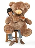 Cheaky Hugs mocha brown teddy bear 45in