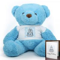 Blue Birthday Cake Chubs teddy bear 38in