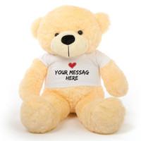 A 38 inch Cozy Bundle of Personalized Teddy Bear Love!