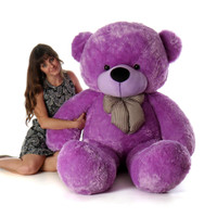 Life Size Purple Teddy Bear DeeDee Cuddles 72in