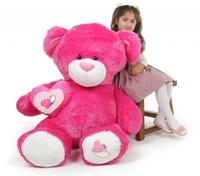 ChaCha Big Love hot pink teddy bear 47in