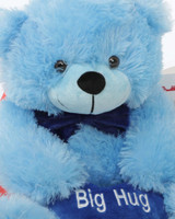He Loves Me Bear Hug Care Package Happy Cuddles blue teddy bear 18in