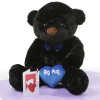 I Love You This Much Bear Hug Care Package Juju Cuddles black teddy bear 38in
