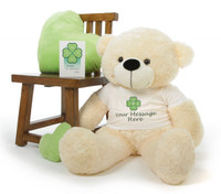Cozy P. Cuddles Personalized St. Patricks Day Teddy Bear 38in