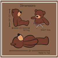 3 ft cuddles dimensions