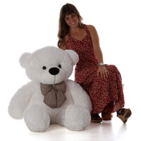 48in Adorable Life Size Teddy Bear white Coco Cuddles soft  gift