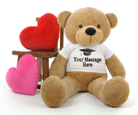 Cuddles Personalized Graduation Teddy Bear 48in