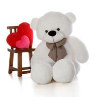Huggable Life Size White Teddy Bear Coco Cuddles 5ft