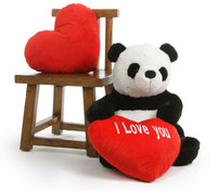 Teddy Xin Extra Large Stuffed Panda Teddy Bear with I Love You Heart 30in