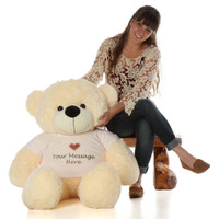 Softest Fur Friendly and Huggable Life Size Cream Teddy Bear Gift 48in