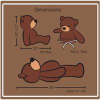 Cuddles 38in Dimension