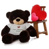 big personalized teddy bear like Brownie Cuddles 48 inch