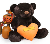Our life size Halloween Teddy Bear is all heart!