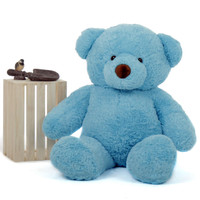 Huggable 48in Adorable Huge Blue Giant Teddy Bear