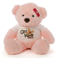 38in Get Well Soon Pink teddy bear Gigi, is just the prescription needed!